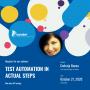 Test automation - API Testing
